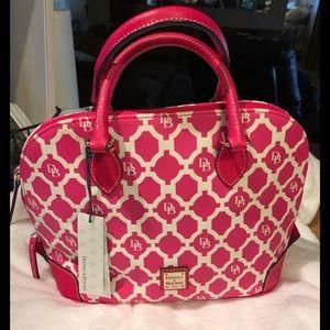 Dooney and Bourke Hot Pink Signatue Handbag